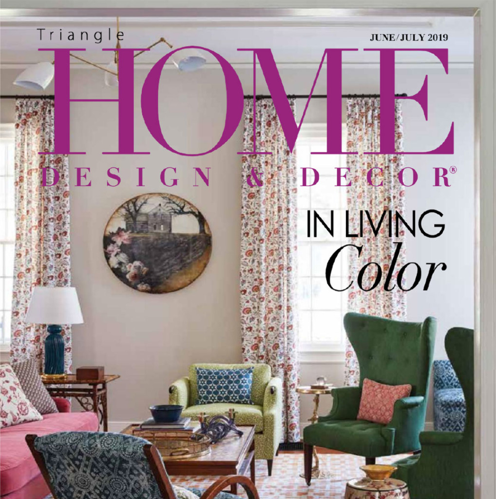 Cover of Triangle Home Design and Decor for June/July 2019