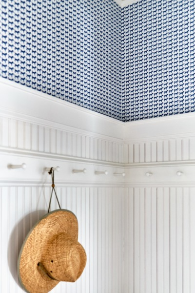 Detail photo of a Raleigh mud room interior design.