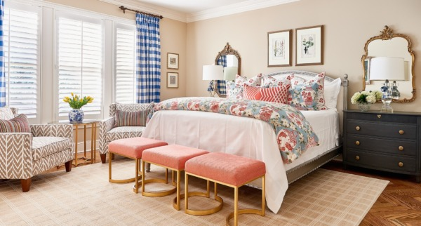 Photo of a Raleigh bedroom interior design.