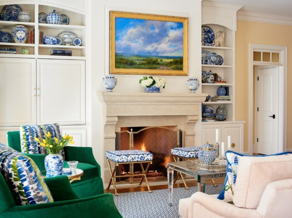 Photo of a Raleigh living room interior design.