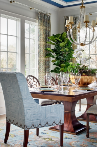 Detail photo of a Raleigh dining room home decor.