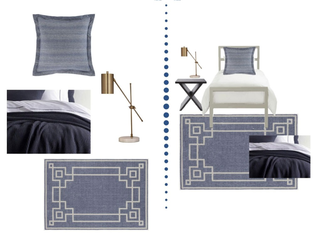 Collage image showing the design options of the Murphy Designer Dorm Room package.