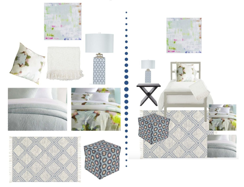 Collage image showing the design options of the Rand Designer Dorm Room package.