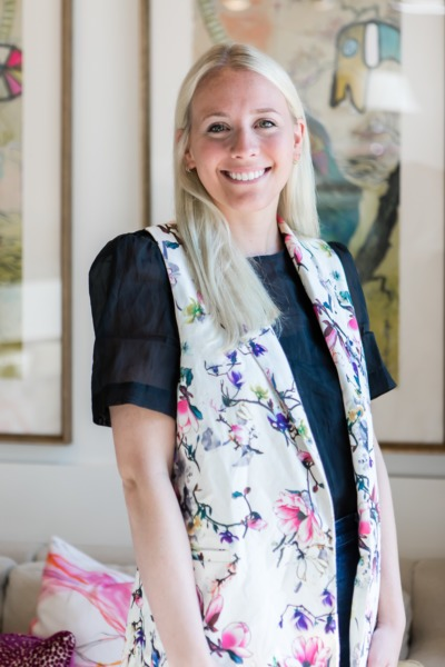 Portrait of The Warehouse Interiors designer, Page Harmer