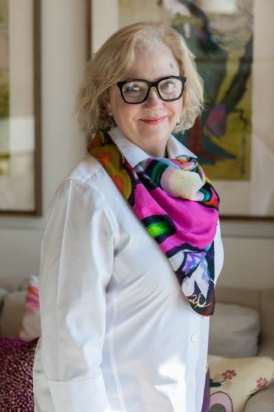 Portrait of retail manager for The Warehouse Interiors, Susan Overcash